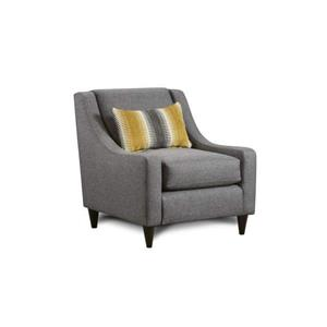 Fusion Furniture 2600 Maxwell Gray Maxwell Gray Accent Chair