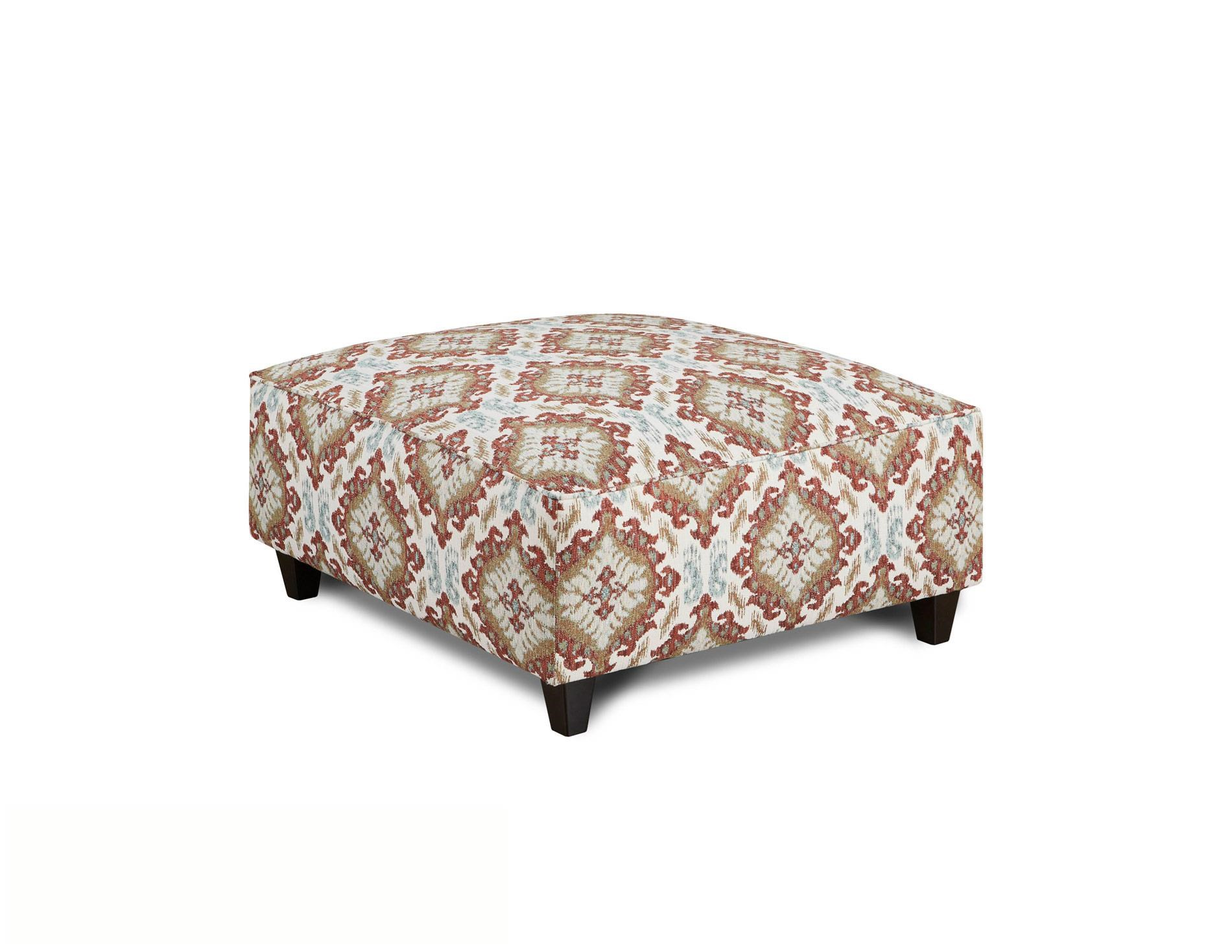 Fusion Furniture Quinn Twilight Samara Citrus Cocktail Ottoman - Item Number: 109-SAMARA-CITRUS