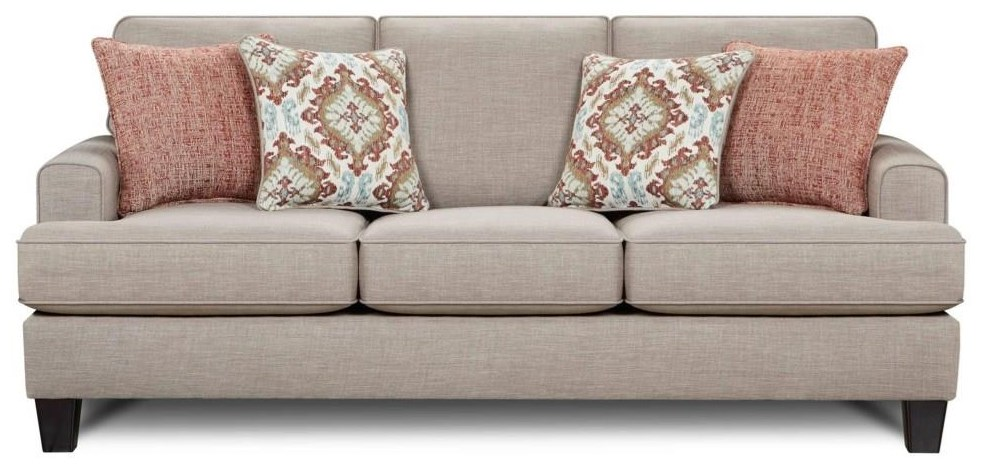 Fusion Furniture Quinn Twilight Sleeper Sofa - Item Number: 2604 QUINN-TWILIGHT
