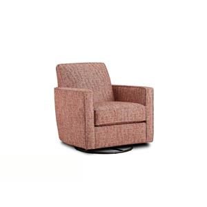 Fusion Furniture Quinn Twilight Nest Henna Swivel Glider