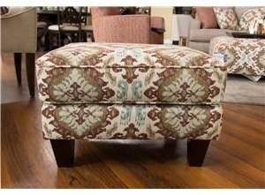 Fusion Furniture Quinn Twilight Samara Citrus Accent Ottoman