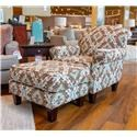 Fusion Furniture Quinn Twilight Accent Chair and Ottoman - Item Number: GRP-53X-CO