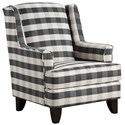 Fusion Furniture 260 Chair - Item Number: 260Brock Charcoal