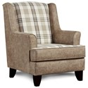 Fusion Furniture 260 Chair - Item Number: 260Northwest Paloma Grey-Gwynn Glas