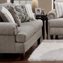 Fusion Furniture 2790 Loveseat - Item Number: 2791Beta Pewter