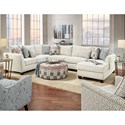 Fusion Furniture 28 Living Room Group - Item Number: 28 RP Living Room Group 1
