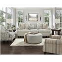 Fusion Furniture 2800-KP Loveseat - Item Number: 2801Barnabas Mushroom