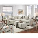 Fusion Furniture 2800 Two Piece Sectional - Item Number: 2806-2807