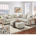 Fusion Furniture 2800 2-Piece Sectional - Item Number: 2807TNT Cafe+2806