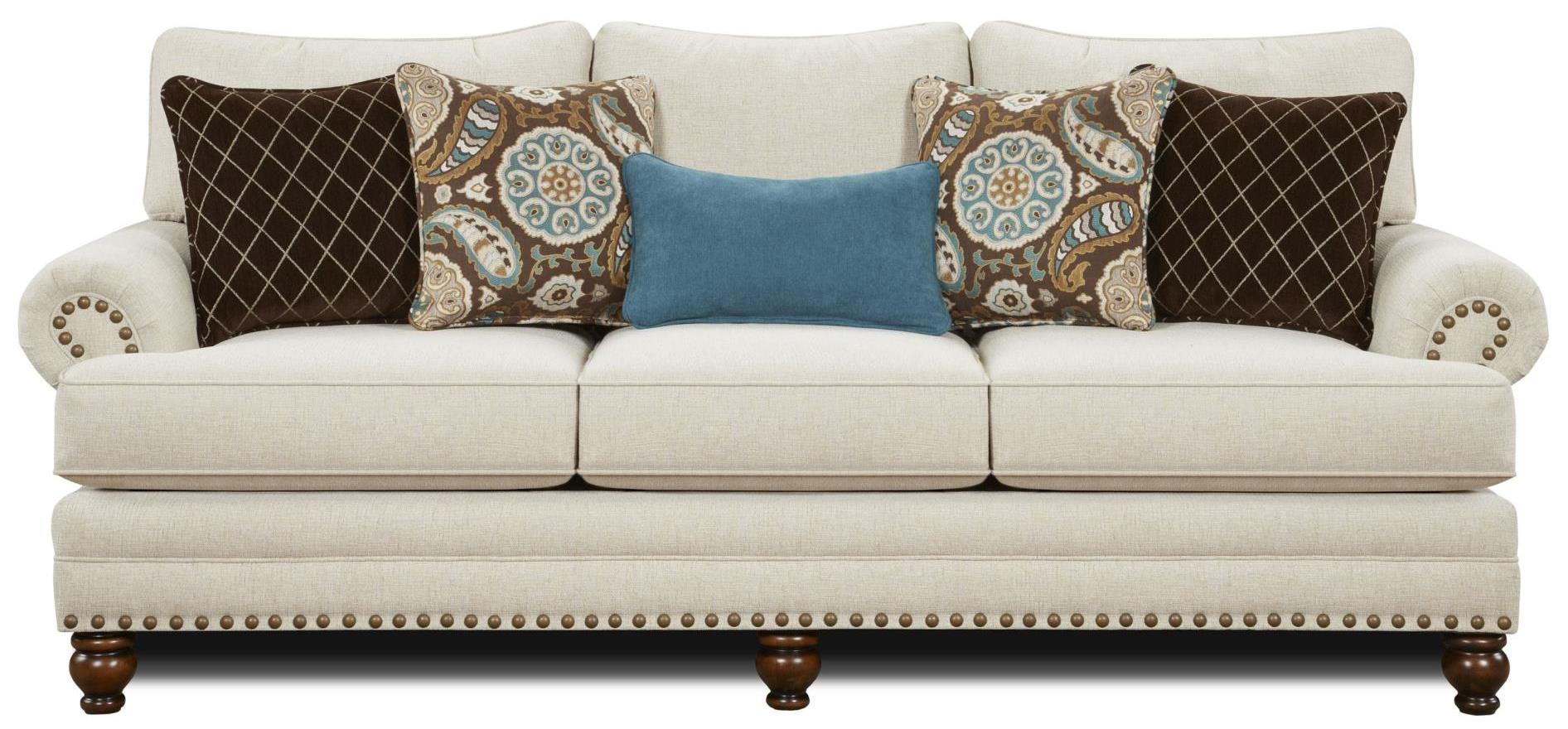 Haley Jordan Seabury Sofa - Item Number: 2820-KPAnna White Linen