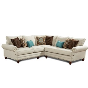 Fusion Furniture 2820 2-Piece Corner Sectional