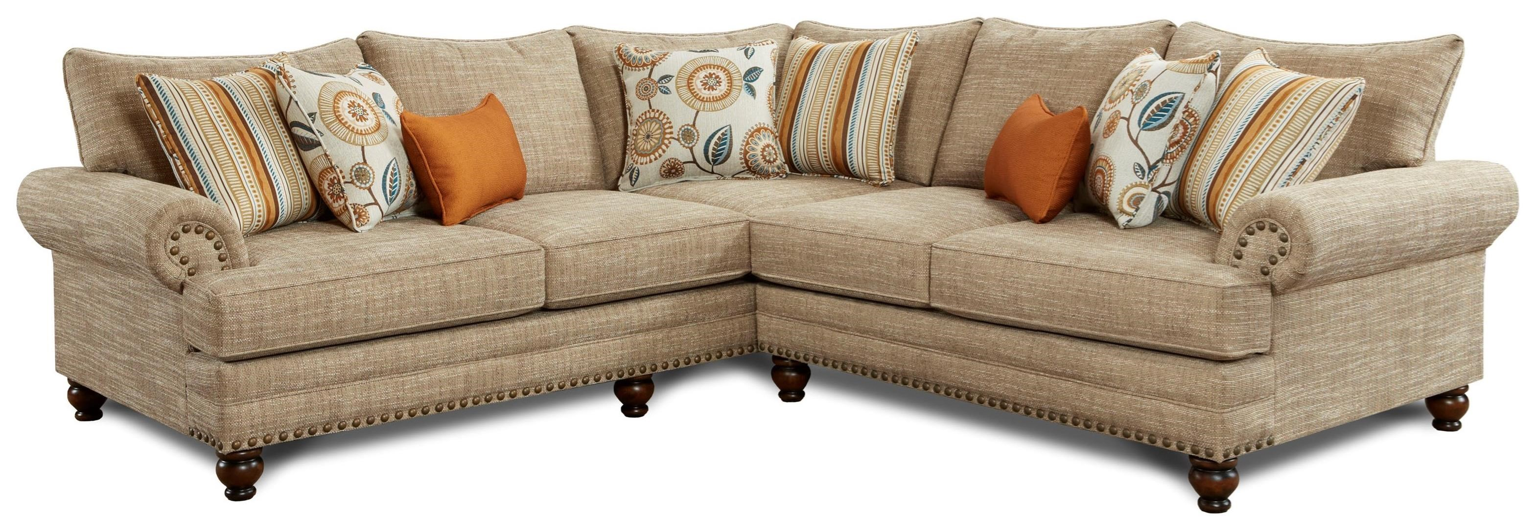 Haley Jordan Nori 2 Piece Corner Sectional with Nailhead Trim
