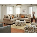 Fusion Furniture 2826-2827 2-Piece Corner Sectional with Nailhead Trim