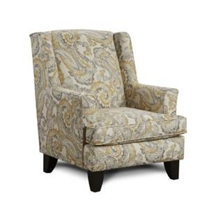 Fusion Furniture 2830 McClandis Buttercup Accent Chair