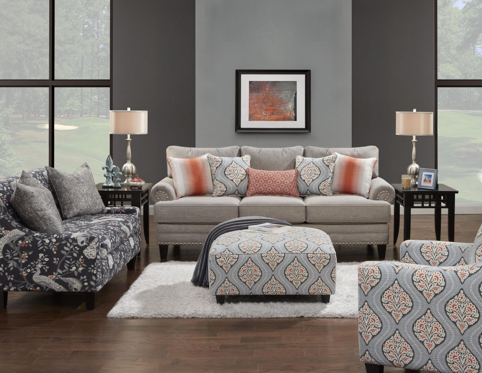 Fusion Furniture 2830 Stationary Living Room Group - Item Number: 2830 Living Room Group 1