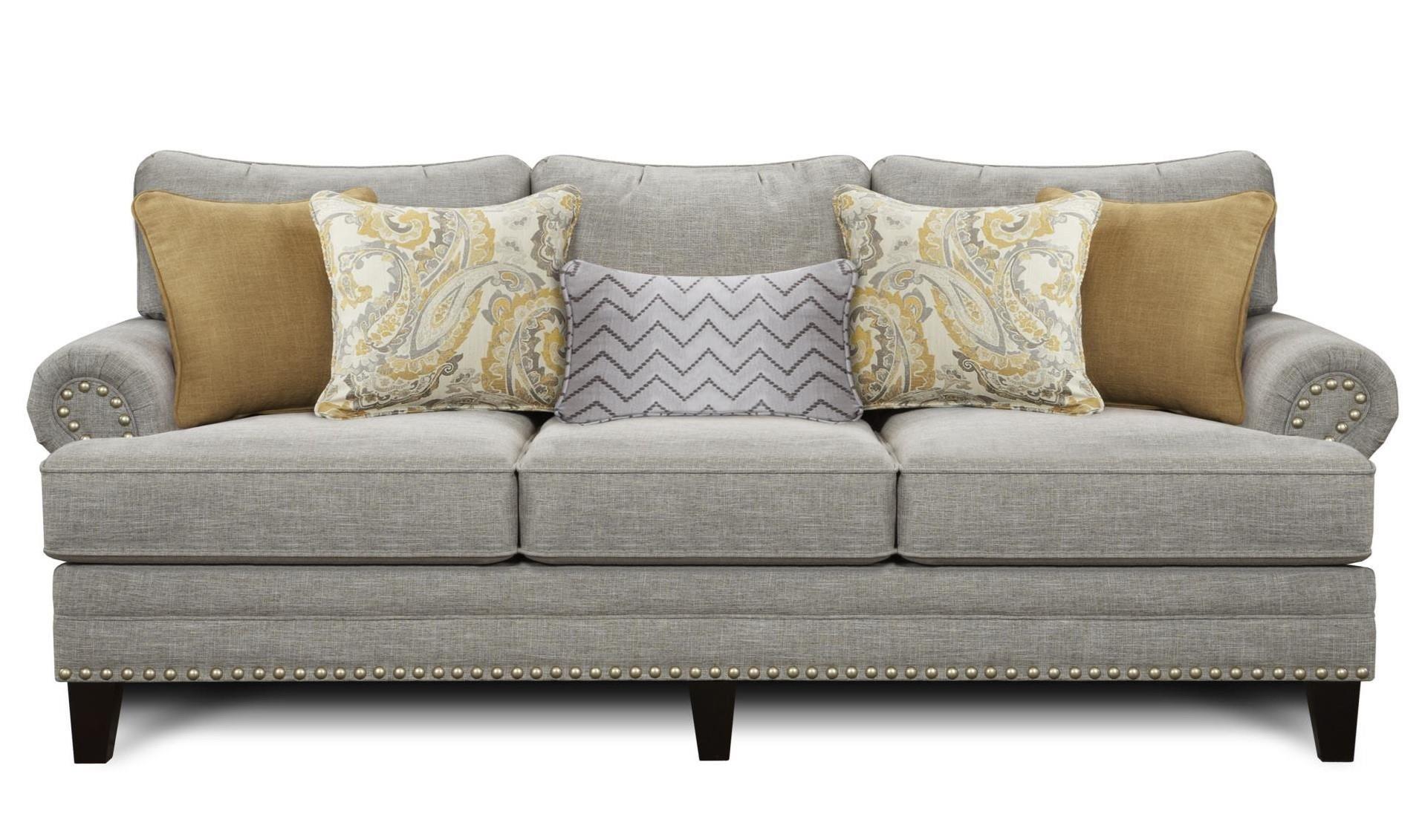 Fusion Furniture 2830 Hobbs Sofa - Item Number: 2830-KP HOBBS-FLANNEL