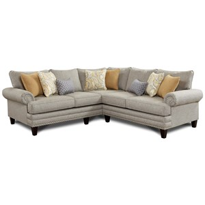 Fusion Furniture 2836-2837 2-Piece Corner Sectional