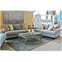 Fusion Furniture 2830 Sofa and Loveseat - Item Number: GRP-283X-SL