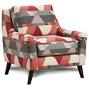 Fusion Furniture 290 Upholstered Chair - Item Number: 290Subdued Prism