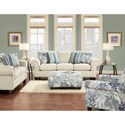 Fusion Furniture 3100 Stationary Living Room Group - Item Number: 3100 Living Room Group 7