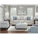 Fusion Furniture 3100 Loveseat - Item Number: 3101Bates Nickle