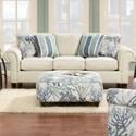 Powell's V.I.P. 3100 Sleeper Sofa - Item Number: 3104Keynote Linen