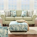 Fusion Furniture 3100 Sleeper Sofa - Item Number: 3104Vibrant Pear