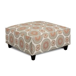 Fusion Furniture Turino Sisal Brianne Marmalade Cocktail Ottoman