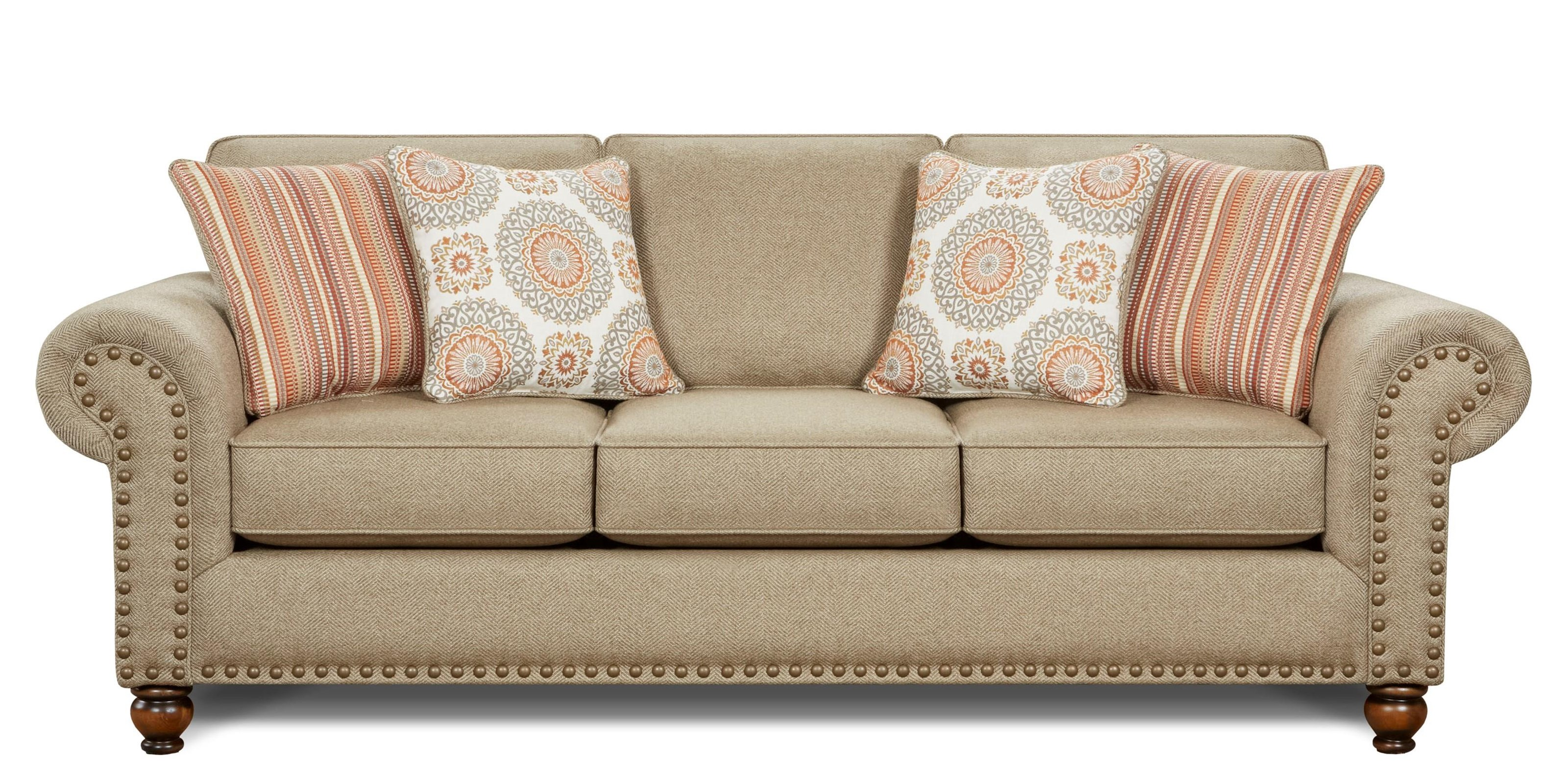 Fusion Furniture Turino Sisal Turino Sisal Sofa - Item Number: 3110 TURINO-SISAL