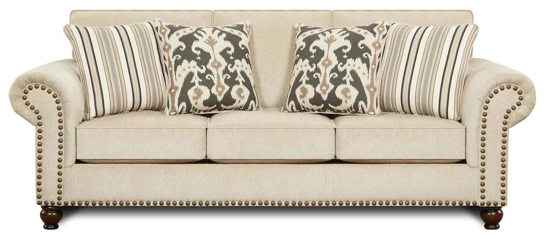 Fusion Furniture Fairleigh Sofa - Item Number: 3110Fairly Sand