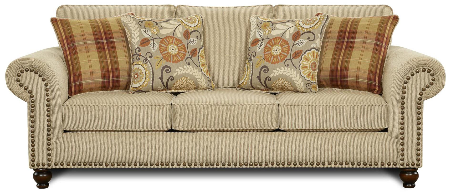 Fusion Furniture 3110 Sofa - Item Number: 3110Out West Linen