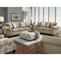 Fusion Furniture 3110 Transitional Sofa with Nailhead Trim