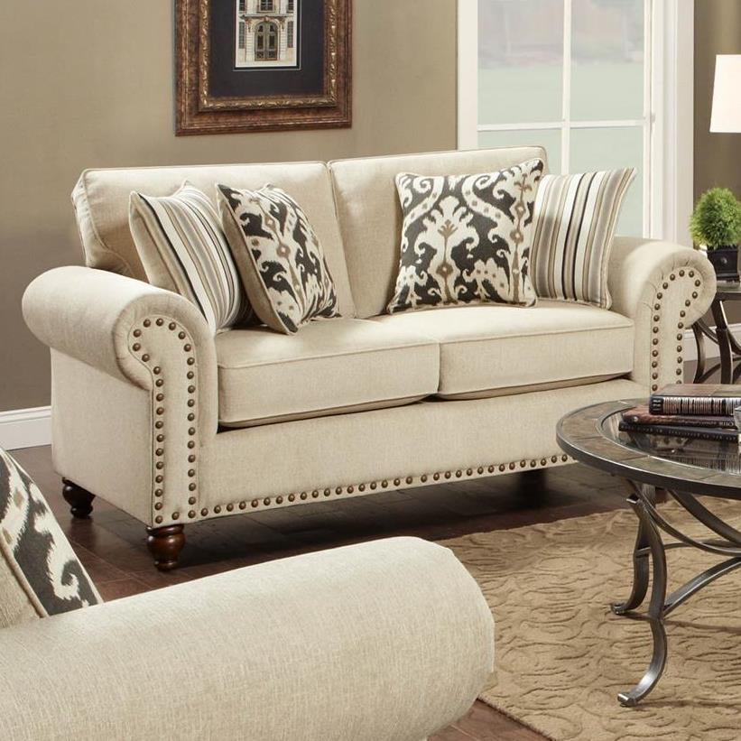 Fusion Furniture Fairleigh Loveseat - Item Number: 3111Fairly Sand