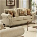 Fusion Furniture 3110 Loveseat - Item Number: 3111Out West Linen