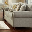 Fusion Furniture 3110 Loveseat - Item Number: 3111Romero Sterling