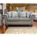 Fusion Furniture Turino Sisal Loveseat - Item Number: 3111ROMERO-STERLING