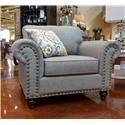 Fusion Furniture Turino Sisal Chair and a Half - Item Number: 3112-ROMERO-STERLING