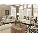 Fusion Furniture 3110 Transitional Chair and a Half with Nailhead Trim