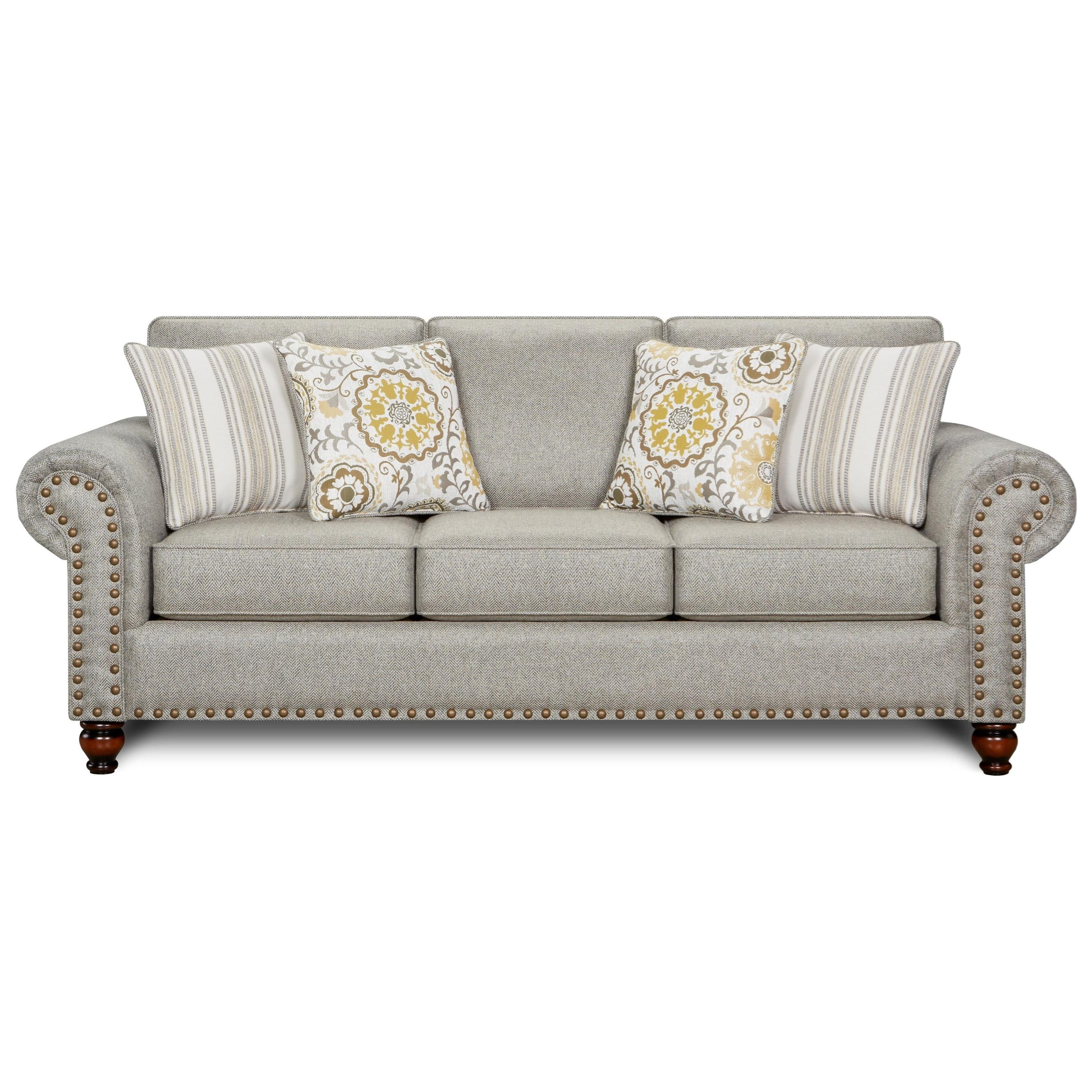 3110 Queen Sleeper Sofa by Fusion Furniture at Hudson's Furniture