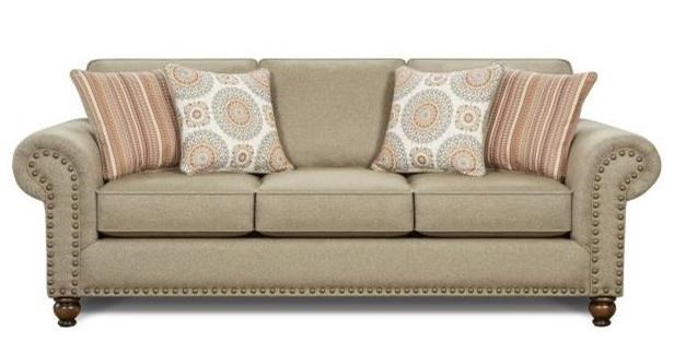 Fusion Furniture 3110 Queen Sleeper Sofa - Item Number: 3114Turino Sisal