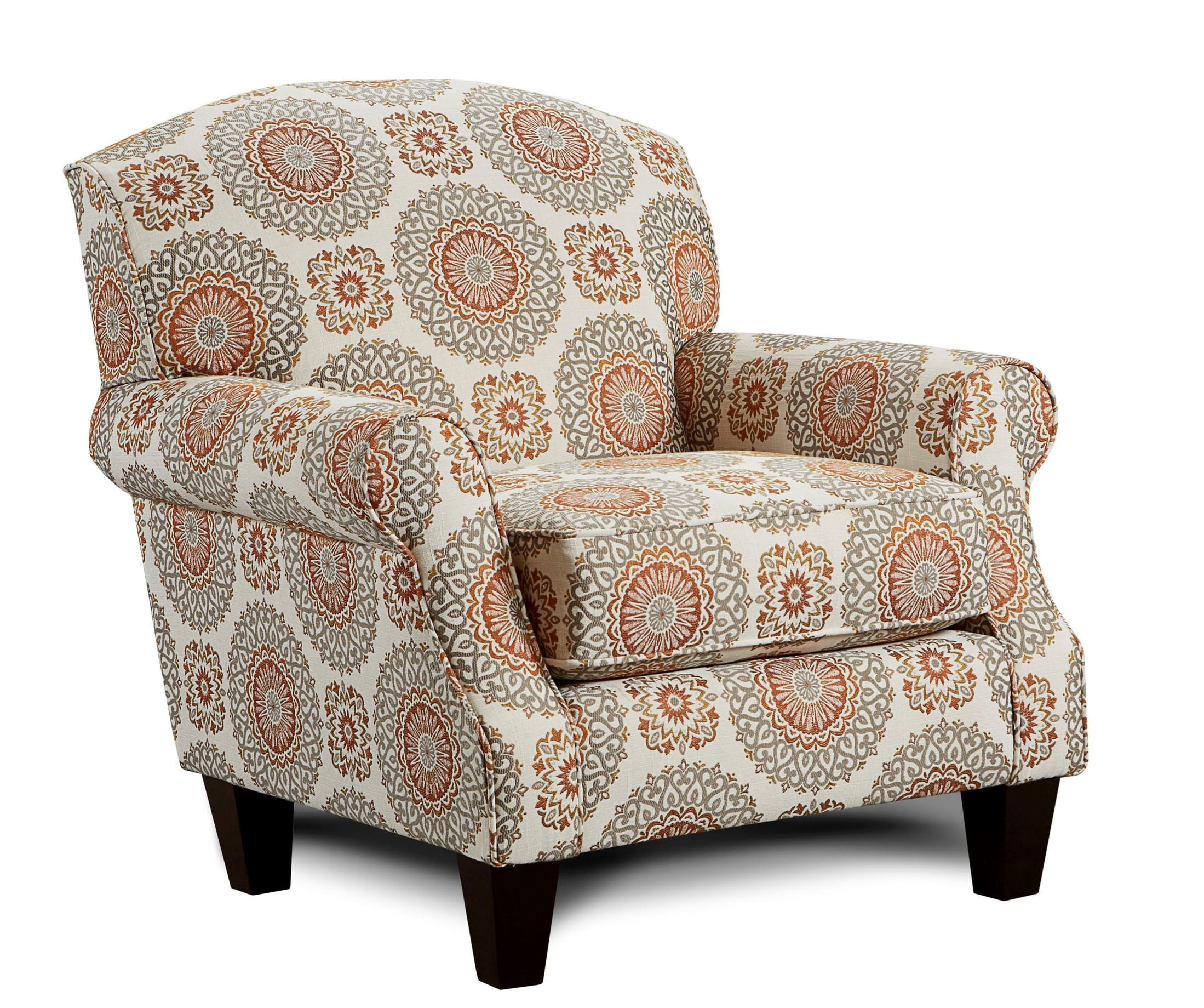Fusion Furniture Turino Sisal Brianne Marmalade Accent Chair - Item Number: 532 BRIANNE-MARMALADE