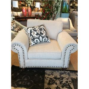 Fusion Furniture 3110 Fairly Sand Chair And A Half With Nail Head Accents |  Miskelly Furniture | Upholstered Chair