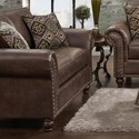 Fusion Furniture 3120 Loveseat - Item Number: 3121Palance Sable