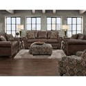 Fusion Furniture 3120 Traditional Faux Leather Chair