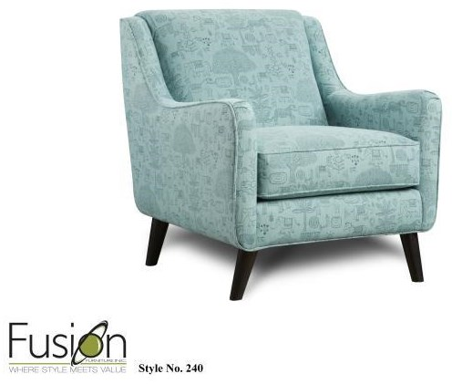 Fusion Furniture 3200 Upholstered Accent Chair - Item Number: 240