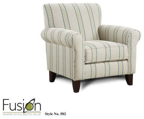 Fusion Furniture 3200 Upholstered Accent Chair - Item Number: 502