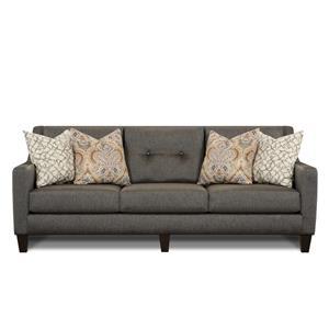 Fusion Furniture Meritage Gray Stationary Sofa