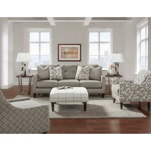 Fusion Furniture Carla Stationary Living Room Group Crowley