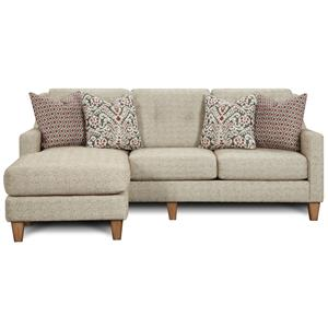 Fusion Furniture 3280 Sofa Chaise