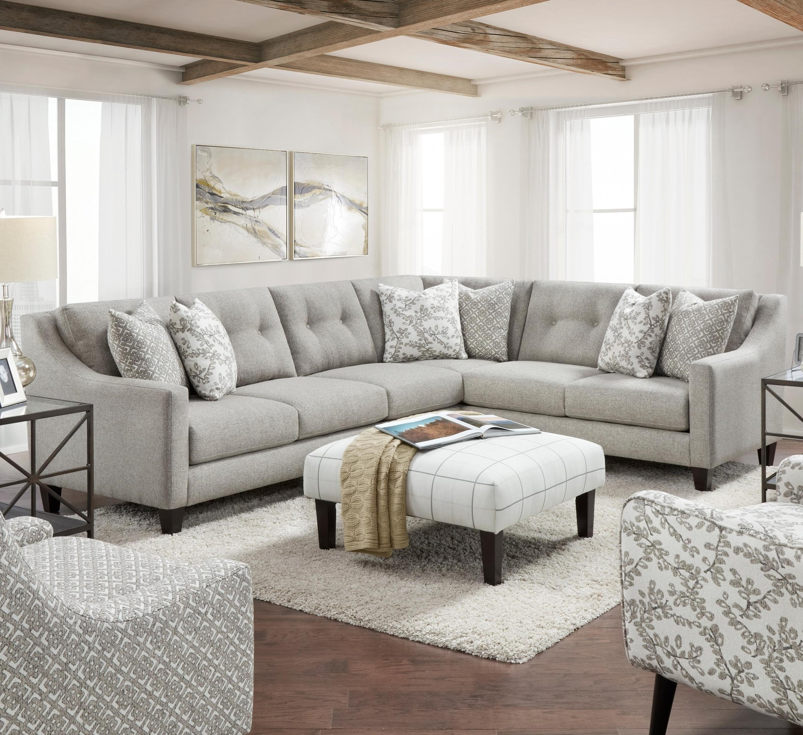 3280 2-Piece Sectional by FN at Lindy's Furniture Company